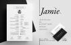 国外畅销系列黑白简历bilmaw Resume Jamie Files