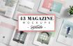 (合集)43套企业杂志画册模板设计稿43 Magazine Mockups Bundle