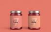 多角度玻璃罐样机展示Jam Jar Mockup