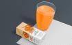 营养健康果汁样机智能贴图Healthy Juice Mockup