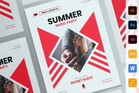 夏季音乐派对海报Summer Music Party Poster