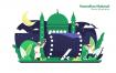 神圣仪式祭拜场景插画素材下载Ramadhan Mubarak Vector Illustration