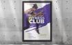 健身健身房海报/传单模板Fitness Gym Poster Template