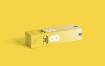 多角度纸板的垂直展示样机Vertical Box Mockup for Cardboard