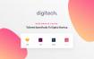 兼容多平台数字网站,ui素材digitech