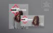 美发学校传单和海报模板Hairdressing School Flyer and Poster Template Jrft6d