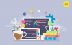 企业数据图标格式插画素材下载App Development Vector Concept Illustration