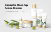 美容化妆品护肤品智能贴图样机展示Cosmetic Mock Up Scene Creator