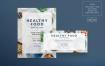 健康食品传单和海报模板Healthy Food Flyer and Poster Template
