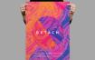 油漆色彩渐变风海报传单模板素材Detach Poster Flyer