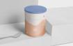 奶粉罐铝制  包装盒场景样机展示素材Tin Container Mockups