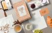 优雅的咖啡主题品牌标识LOGO标志设计样机场景VI样机展示模型coffee themed brand identity mockup scenes