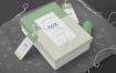 工艺品包装盒智能贴图样机展示Rectangle Box Mockups