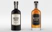 威士忌酒瓶样机素材模板下载Whiskey Bottle Mock Up