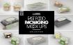多品类快餐盒  甜点模板样机素材展示Fast Food Boxes Vol 7 Take Out Packaging Mockups