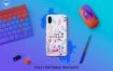 手机壳素材模板展示样机Mobile Cover Mockup Template