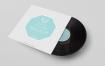 黑胶唱片样机模型样机展示智能贴图样机387 vinyl record mockup