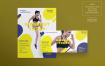 健身房锻炼传单和海报模板/传单Gym Workout Flyer and Poster Template