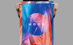 素材拼图展示 月球传单/海报模板Moon Flyer Poster Template