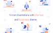 创业和商业主题插图素材模型文件下载Business illustration pack