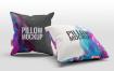 多角度抱枕样机3D模型效果图展示Pillow Mock Up Jb57q3