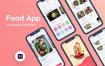 家庭厨房/食品订购电商购物iOS应用程序UI工具包素材下载Food App UI KIT