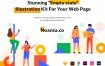 在线课程学习体验的教育类应用UI Kit设计套件插图素材下载Empty States Illustration Kit