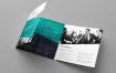 创意机构产品手册模板素材下载Brochure Corporate Tri Fold Square