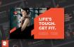 运动健身概念主题幻灯片宣讲模板素材Gym PowerPoint Presentation Template