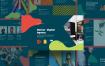 创意时尚现代商务幻灯片模版素材PPTMarian Digital Agency Presentation Template