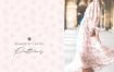 品牌包装装饰图案纹理/婚纱装饰图案纹理素材Romantic Leaves Patterns
