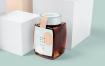 精致文艺品牌包装蜂蜜罐样机模板素材GWYS2RE