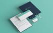 企业品牌标识和文具包VI品牌宣传模板样机 SQG8N2M