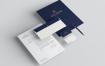 企业品牌言传商业身份和文具包模版素材样机H9AF6AU