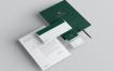 高端企业品牌标识和文具包模版样机 BGVA92W