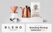 高端品牌混合咖啡馆品牌样机模版素材R4HCJUD