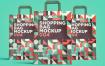 简约几何版购物袋牛皮纸模型素材004 QJFXMLH