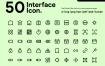 线性系统界面基本线图标素材模板