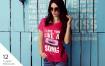 高端精致女性T恤样机模版素材D7NBRN
