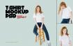 时尚化女性T恤样机模版素材下载SK77XYG