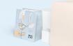 牛皮纸细长矩形纸购物袋样机模版素材下载WCNLFW9