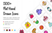 1100+平手绘儿童图标素材模版