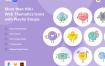 100个彩色创意有趣的小图标矢量素材 Tinies