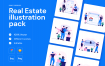 房地产相关类创意扁平化插图模版素材下载Real Estate Illustration pack