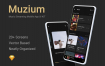 图片社交类设计套件模版素材下载Muzium – Music Streaming mobile app UI KIT (sketch)