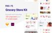 网上食品购物电子商务模版素材下载UI KIT Grocery Store