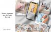 社交媒体应用程序样机模版素材iPhone-样机DJU8BWC