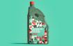 精致塑料机油瓶模型素材下载002  ARQ6RUW