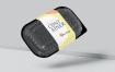 黑色精致一次性食品盒套样机模型素材下载LN2B9V7