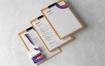 简约信头纸文具品牌样机与剪贴板模版样机素材下载FYRPP36